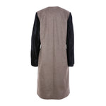 Moka London Women's Cashmere Calf Leather Colorblock Coat UK 10 LADIES