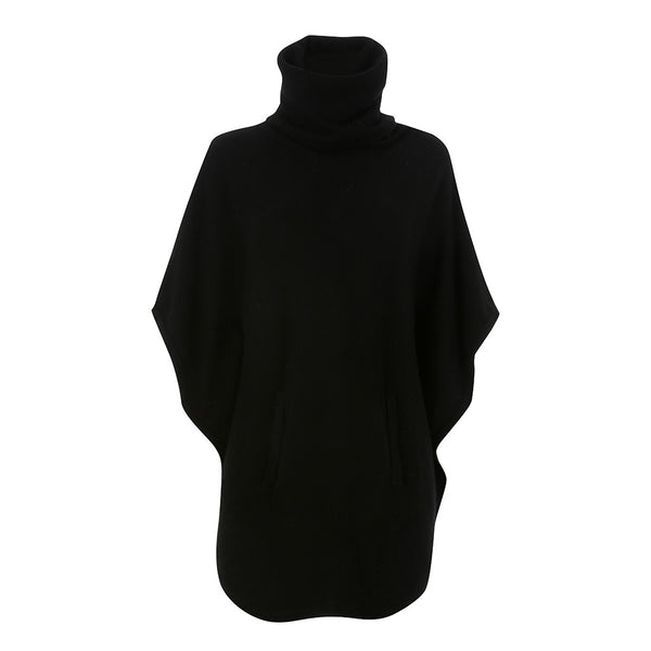 Ralph Lauren Cashmere Turtleneck Black Cape Poncho Size XXS fits all sizes Ladies