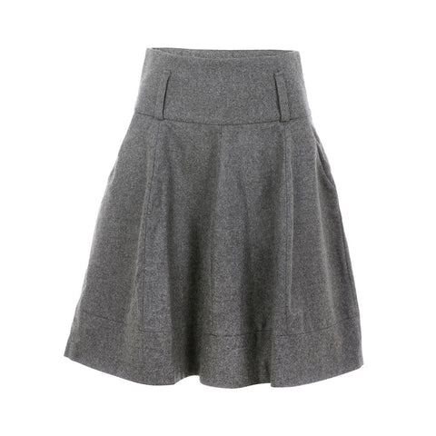 BRUNELLO CUCINELLI CASHMERE WOOL A-LINE SKIRT I 40 US 4 UK 8 LADIES