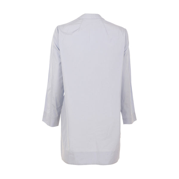 TOME Women's White Poplin V Neck Tunic Top Size M MEDIUM Ladies