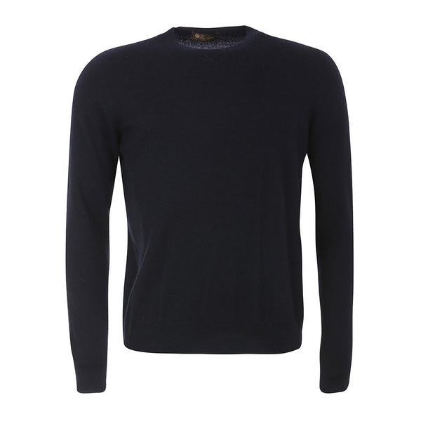 LORO PIANA CASHMERE NAVY BLUE LONG SLEEVE SWEATER JUMPER I 54 US 44 XXL MEN