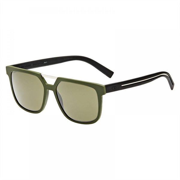 CHRISTIAN DIOR Green Homme 220s 0200s Matte Rubber Aviator Wired New Sunglasses MEN