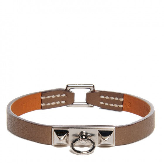 HERMES Swift Micro Rivale Bracelet Small Etoupe Palladium Size S Small ladies