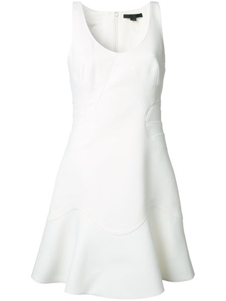 Alexander Wang - Tailored Bodice A-line Dress In White US 4 UK 8 S SMALL ladies