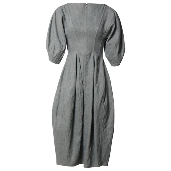 CÉLINE Celine Phoebe Philo Grey Linen Dress Ladies