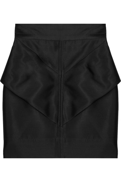 Camilla and Marc's black silk dupioni mini skirt  Ladies
