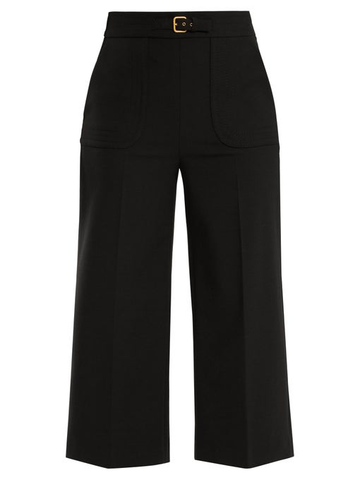 RED VALENTINO BLACK CULLOT WITH BELT DETAIL PANTS TROUSERS SIZE I 38 Ladies
