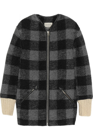 Isabel Marant Étoile Women's Bouclé Check Wool Gelicia Coat Ladies