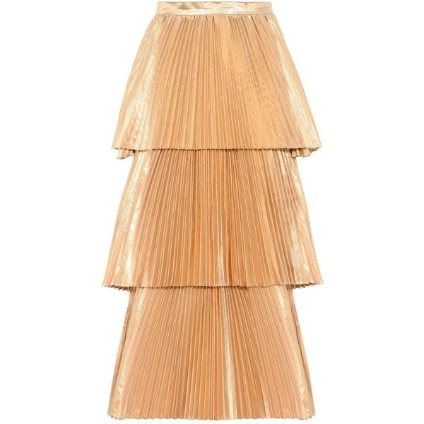 STELLA MCCARTNEY Gold Melody Pleated Skirt  Ladies