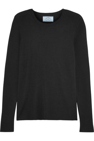 Prada Cashmere and silk-blend sweater pullover jumper I 42 UK 10 US 6 ladies