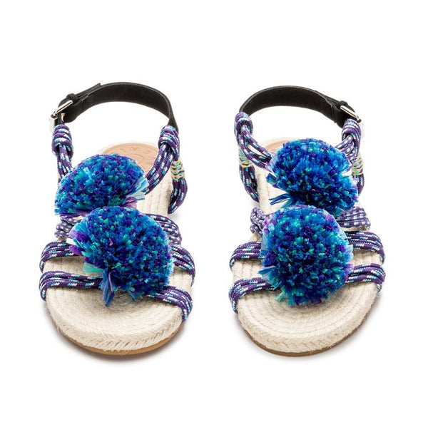 The Most Amazing Bimba Y Lola Blue Strings New Other Pom Poms Flats Sandals 39 ladies