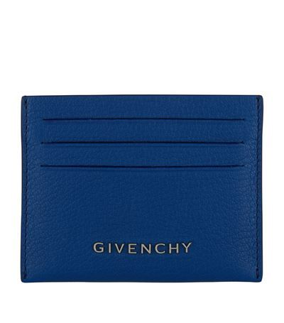 GIVENCHY Pandora Card Holder In Blue Leather Ladies