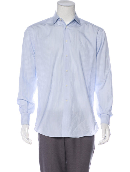 "Spencer Hart Savile Row Striped spread collar dress shirt SIZE 39 CM 15.5"" men"