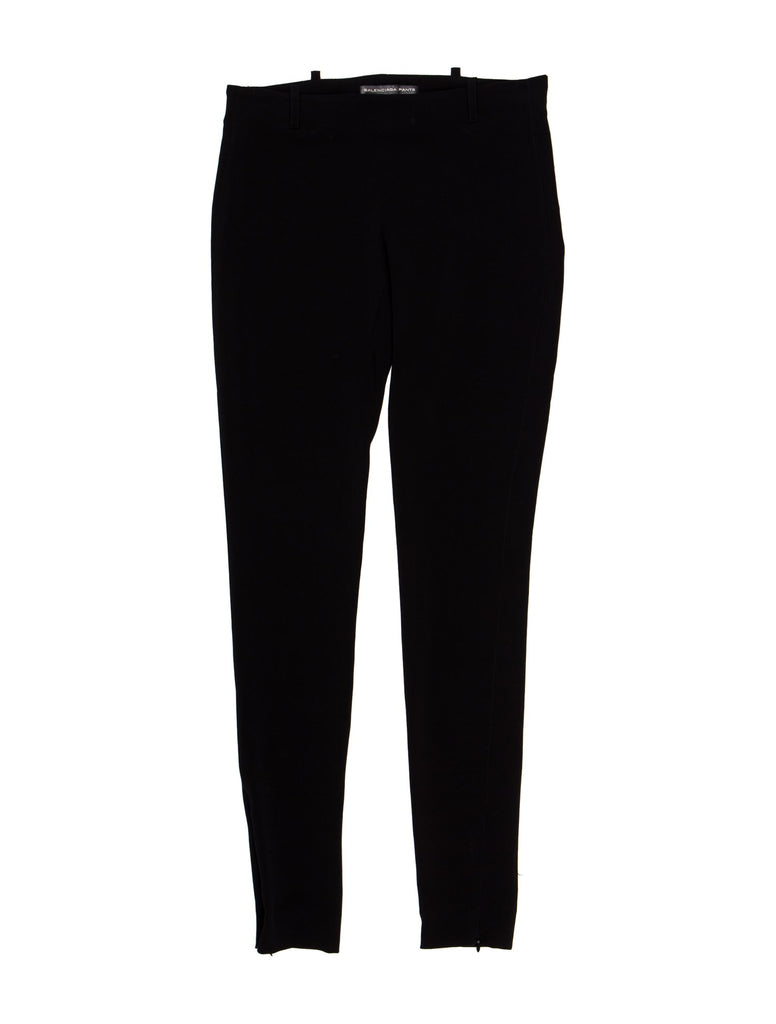 BALENCIAGA Black Skinny Mid Rise Runaway Pants Trousers  Ladies