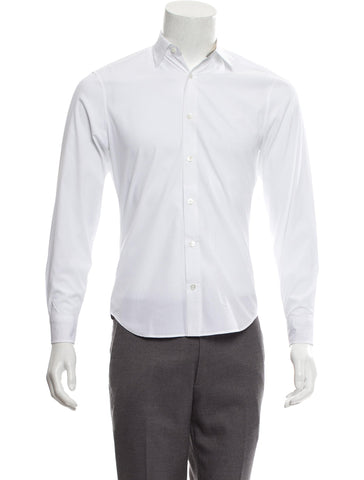 BURBERRY BRIT LONG SLEEVE BUTTON-UP WHITE SHIRT SIZE M MEDIUM Men