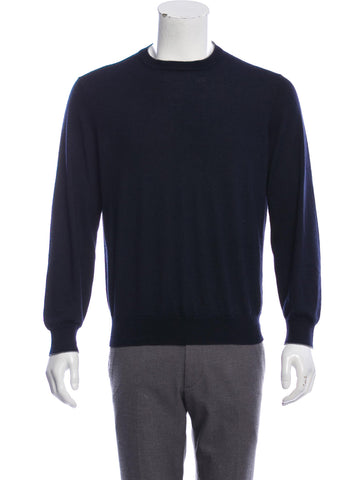 Brunello Cucinelli Men's Cashmere Blend Crew Neck Sweater Jumper Size L large men