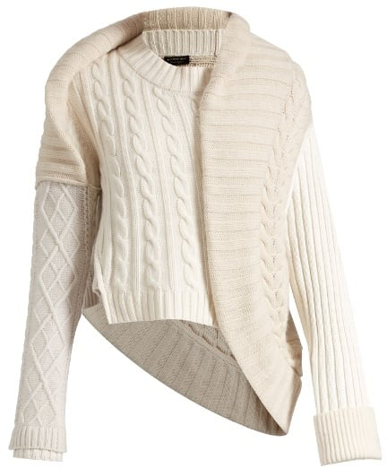 Burberry Contrasting-knit cable knit cashmere Jumper Sweater Size S Small ladies