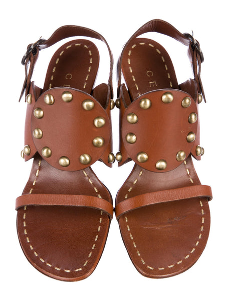Céline slingback leather studded sandals 38 1/2 US 8.5 UK 5.5 Michael Kors Era Ladies