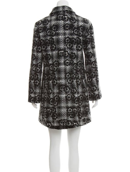 CHANEL COCO BUTTON CAMELLIA CORSAGE TWEED COAT F 36 UK 8 US 4 LADIES