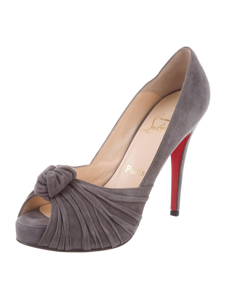 Christian Louboutin WOOL Lady Gres Knot Pumps Shoes Size 38 1/2 UK 5.5 US 8.5 Ladies