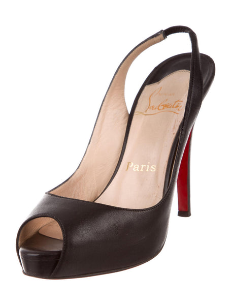 Christian Louboutin peep-toe slingback pumps Shoes 39.5 ladies