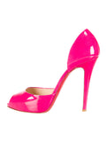 CHRISTIAN LOUBOUTIN MADAME CLAUDE PEEP-TOE D'ORSAY PUMPS Size 40 1/2 Ladies