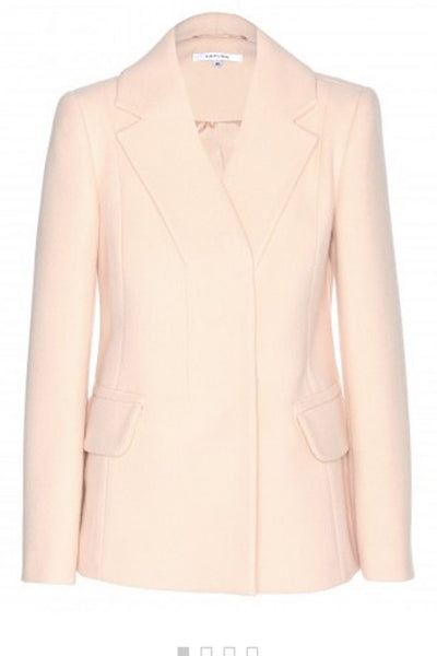 Carven Peach Wool Blend Blazer Jacket Coat FR 34 UK 6 US 2 XXS Ladies