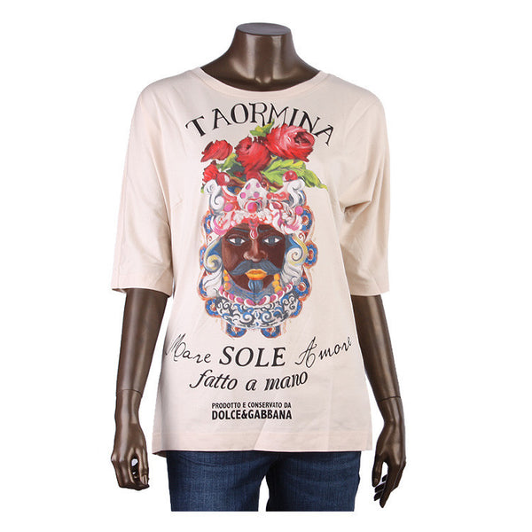 DOLCE & GABBANA D&G TAORMINA 2015 COLLECTION TOP I 46 XL LADIES