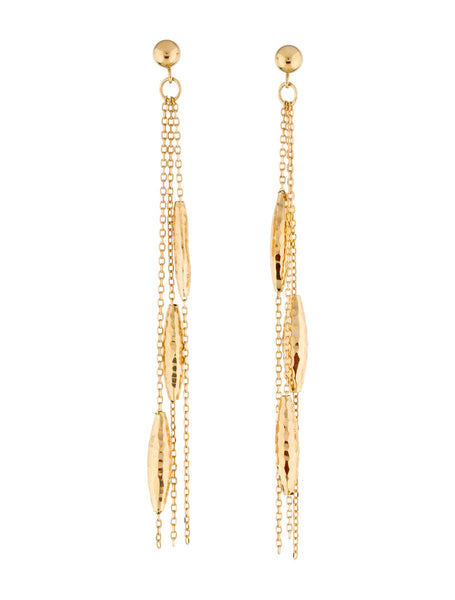 14K 14ct 585 Yellow Gold 14K Drop Earrings ladies