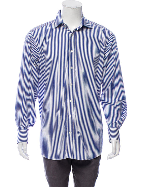 "BOSS HUGO BOSS REGULAR FIT LONG SLEEVE BUTTON-UP SHIRT SIZE 47 18 1/2"" men"
