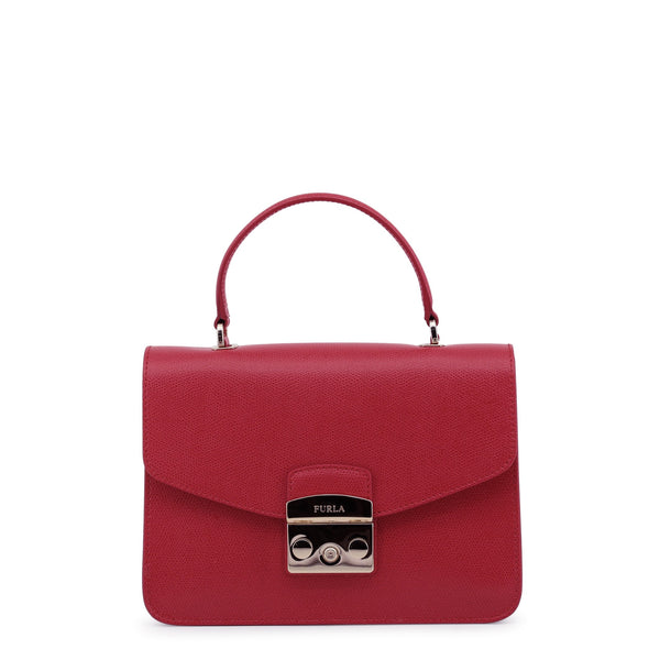 Furla Metropolis Top Handle 903885 Red Bag Handbag Chain ladies