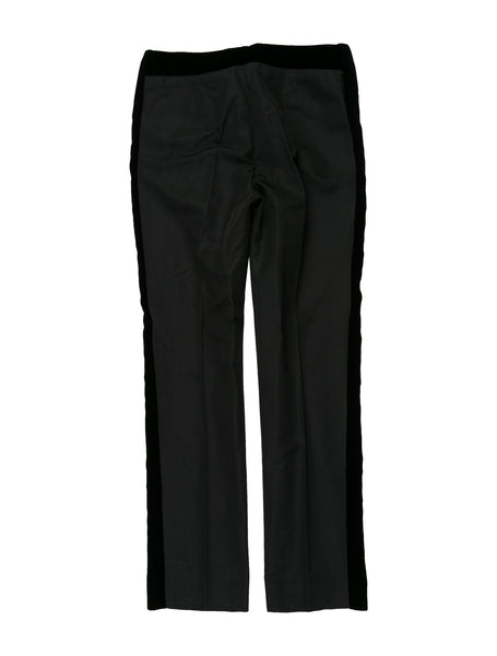 Dolce & Gabbana D&G satin velvet trim straight-leg pants I 40 UK 8 US 4 S ladies