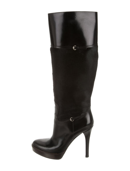 GUCCI PONYHAIR KNEE-HIGH BOOTS SIZE 36B US 6 UK 3 LADIES