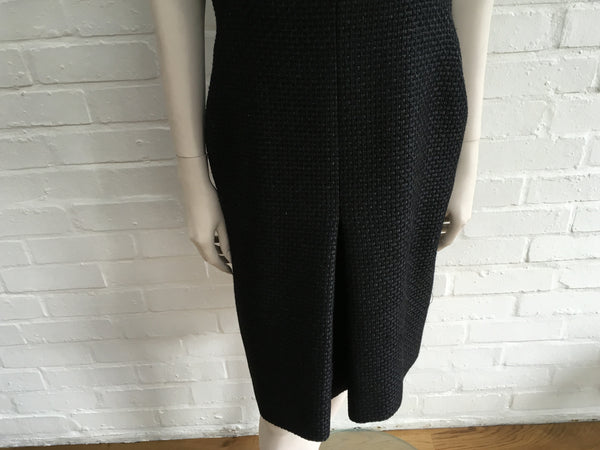 CHANEL ALPACA TWEED BLEND DRESS 2009 SZ F 42 UK 14 US 10 RARE MOST WANTED LADIES