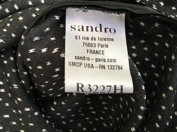 SANDRO LACE INSERT DRESS LADIES Size 1 SMALL LADIES