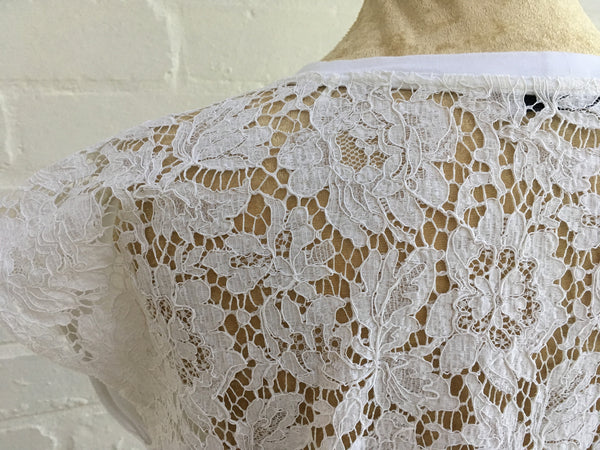 Valentino Lace Back Top in White Size M Medium Ladies