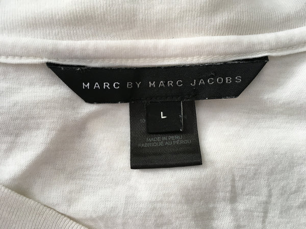 Marc by Marc Jacobs Dont Fret My Pet Miss Marc Tee Top Size L Large Ladies