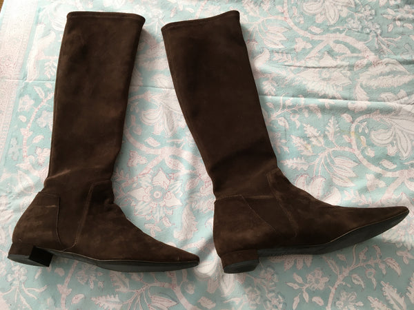 Fratelli Rossetti Women Brown Suede Boots Size 37.5 UK 4.5 US 7.5 LADIES