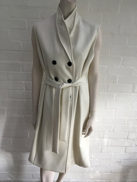 VICTORIA BECKHAM Double-breasted wool-twill gilet coat jacket UK 10 US 6 Ladies
