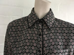 Talitha Disk Print Pajama Shirt Silk Blouse Size XS Latest Collection Ladies