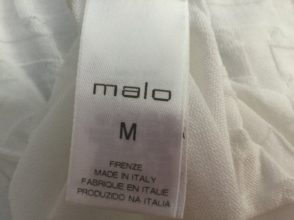 MALO WHITE COTTON OPEN CARDIGAN SIZE M MEDIUM LADIES