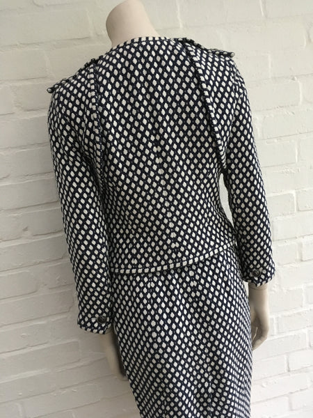 Chanel Amazing Rare RUNWAY TWEED BAMBOO BLEND 08P 2-piece suit F 36 UK 8 US 4 S Ladies