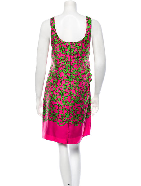 MARC JACOBS BLACK LABEL SO CHIC PINK/GREEN DRESS SZ 4 UK 8 S SMALL  LADIES