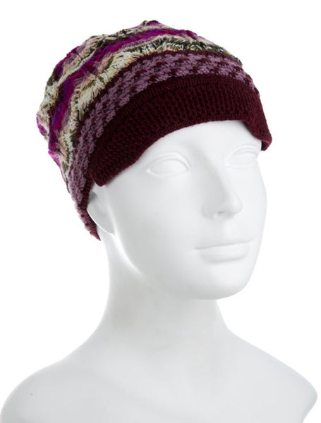 MISSONI Wool Beanie Knit Hat ladies