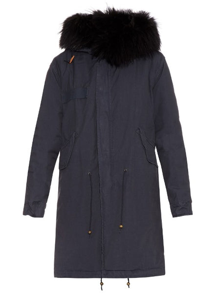 Mr & Mrs Italy Authentic Hooded Sable Fur Lined Parka Ladies