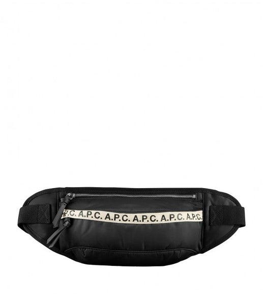 A.P.C. Lucille Leather-Trimmed Logo-Print Nylon Belt Bag Men