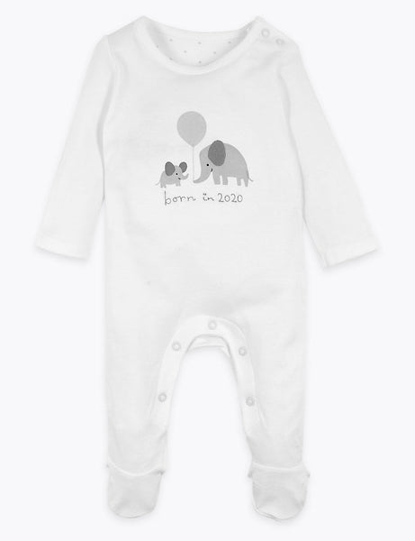 Marks & Spencer M&S Organic Cotton All in One Outfit Born in 2020 3 month 54 cm children