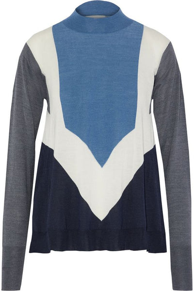 Stella McCartney Color-Block Wool And Silk-Blend Sweater ladies