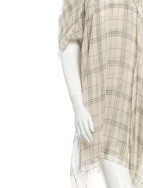 STELLA MCCARTNEY SILK BEIGE DRESS I 44 L LARGE Ladies