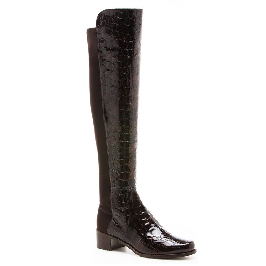 STUART WEITZMAN EMBOSSED 50 50 BOOTS Size 36.5 UK 3.5 US 6.5 Ladies